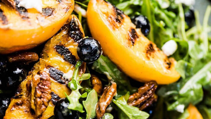 Peach, Arugula and Goat Cheese Salad