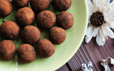 Easy Chocolate Peppermint Protein Balls Recipe
