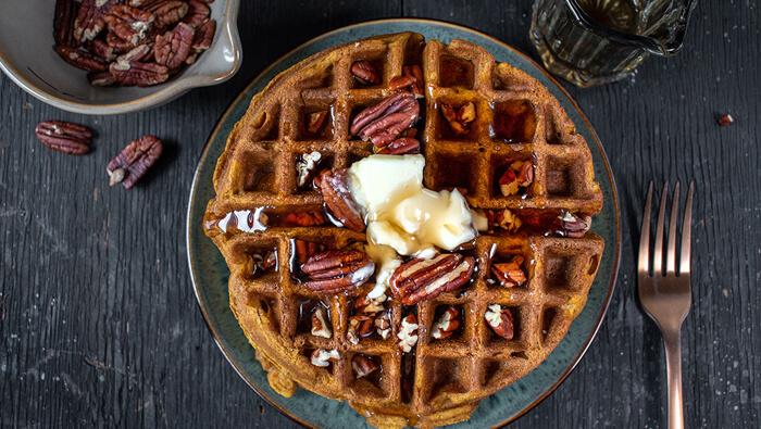 Easy Gluten-Free Pecan Waffles
